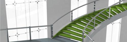Gebäude-Treppe